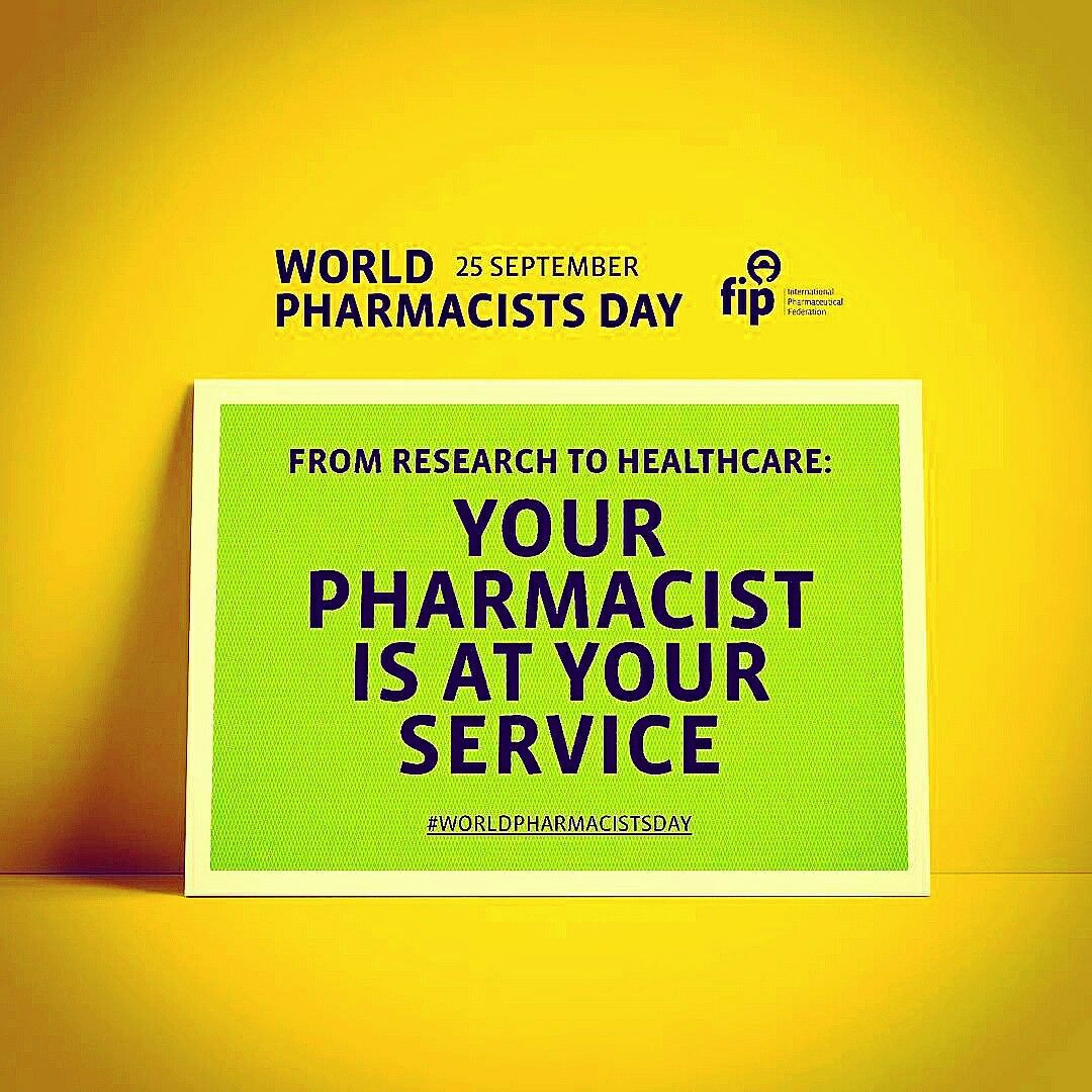 Happy World Pharmacists Day!!! World pharmacist day
