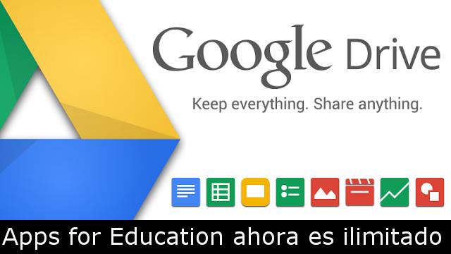 Llega #GoogleDrive ilimitado pero solo con fines educativos