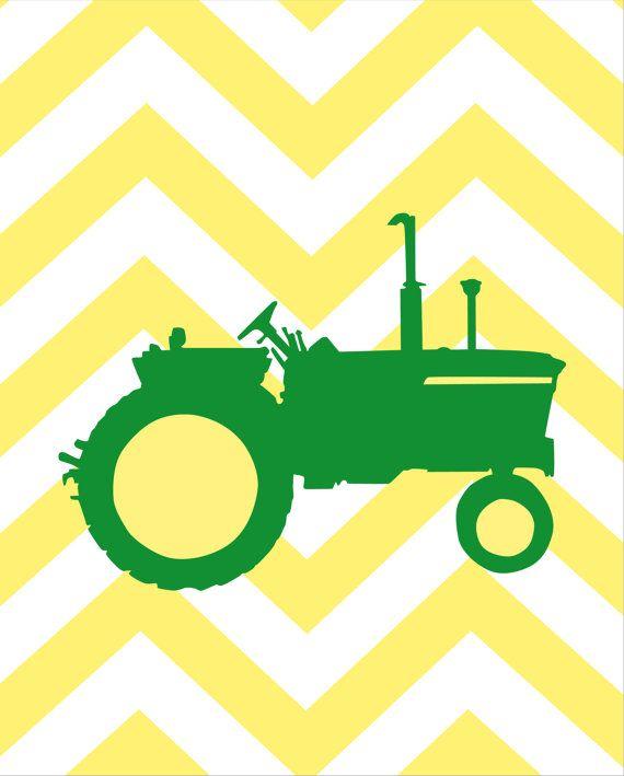 Boy Room Decor John Deere Nursery Art Deer Tractor By Karimachal - John deere idees de decoration de chambre