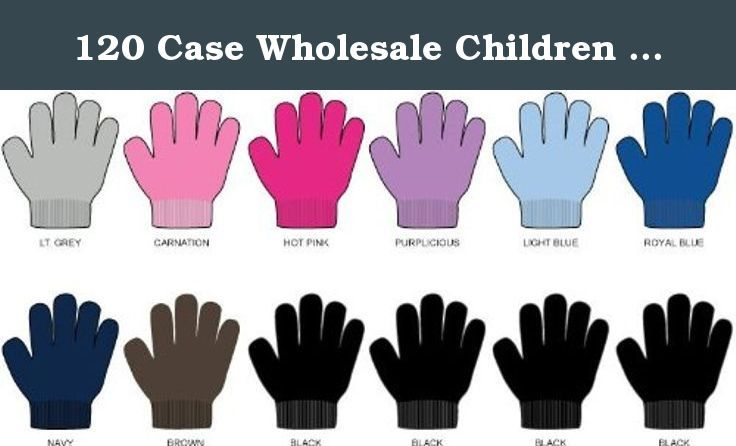 670c1fa5bebc 120 Case Wholesale Children Gloves - Lot of Bulk Winter Gloves for Kids.  Kids Basic Magic Gloves. Assorted colors for these wholesale bulk cheap  discount ...