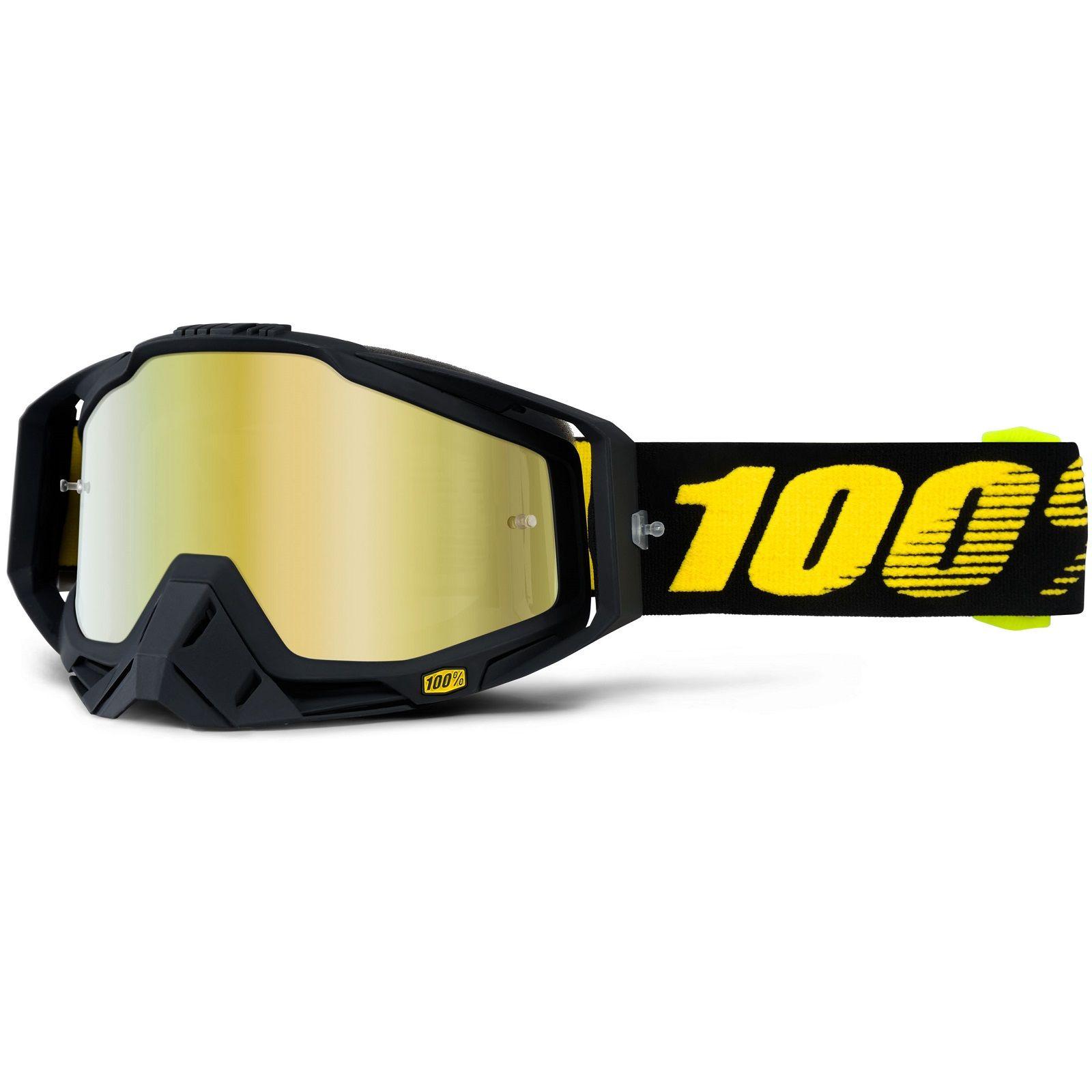 100 Percent Racecraft Raceday Gold Mirror Goggles