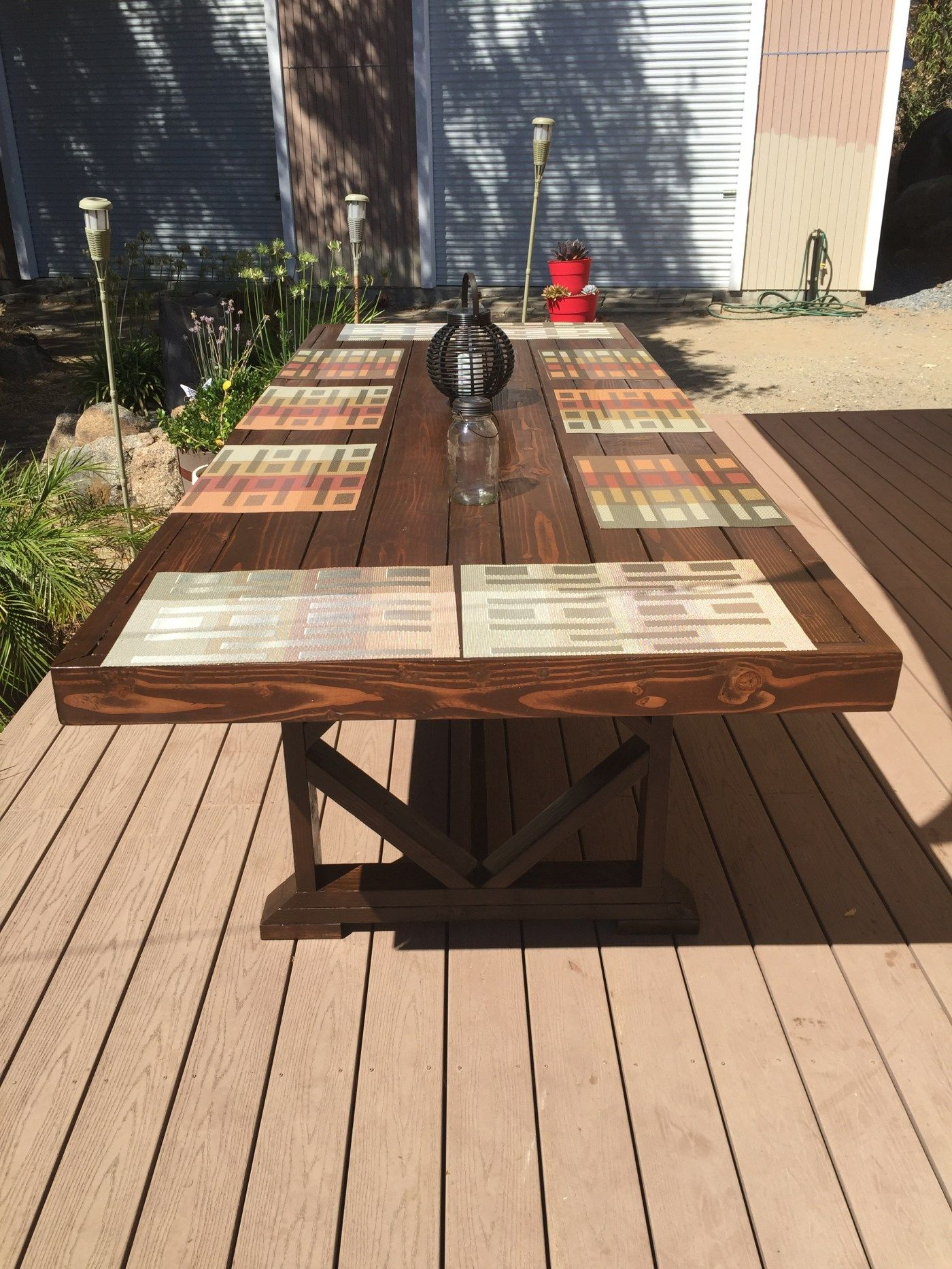 diy large outdoor dining table  outdoor dining table