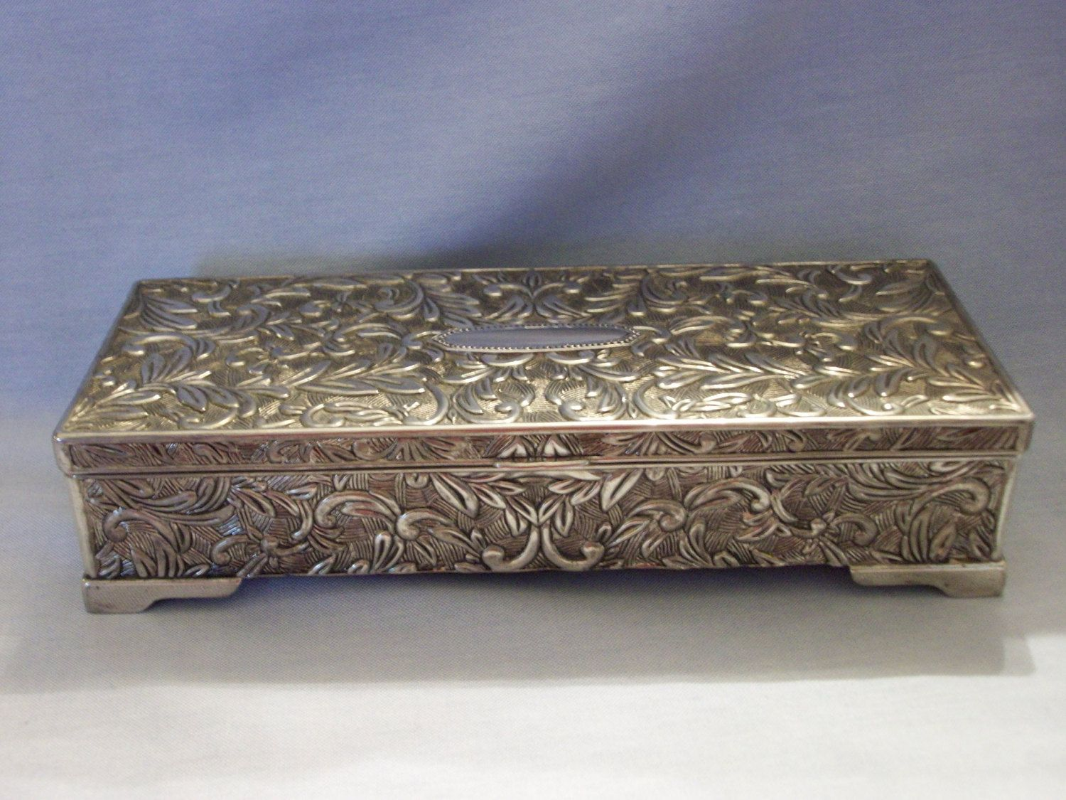Godinger Silver Plated Jewelry Box by SashaAzreal on Etsy Stuff to