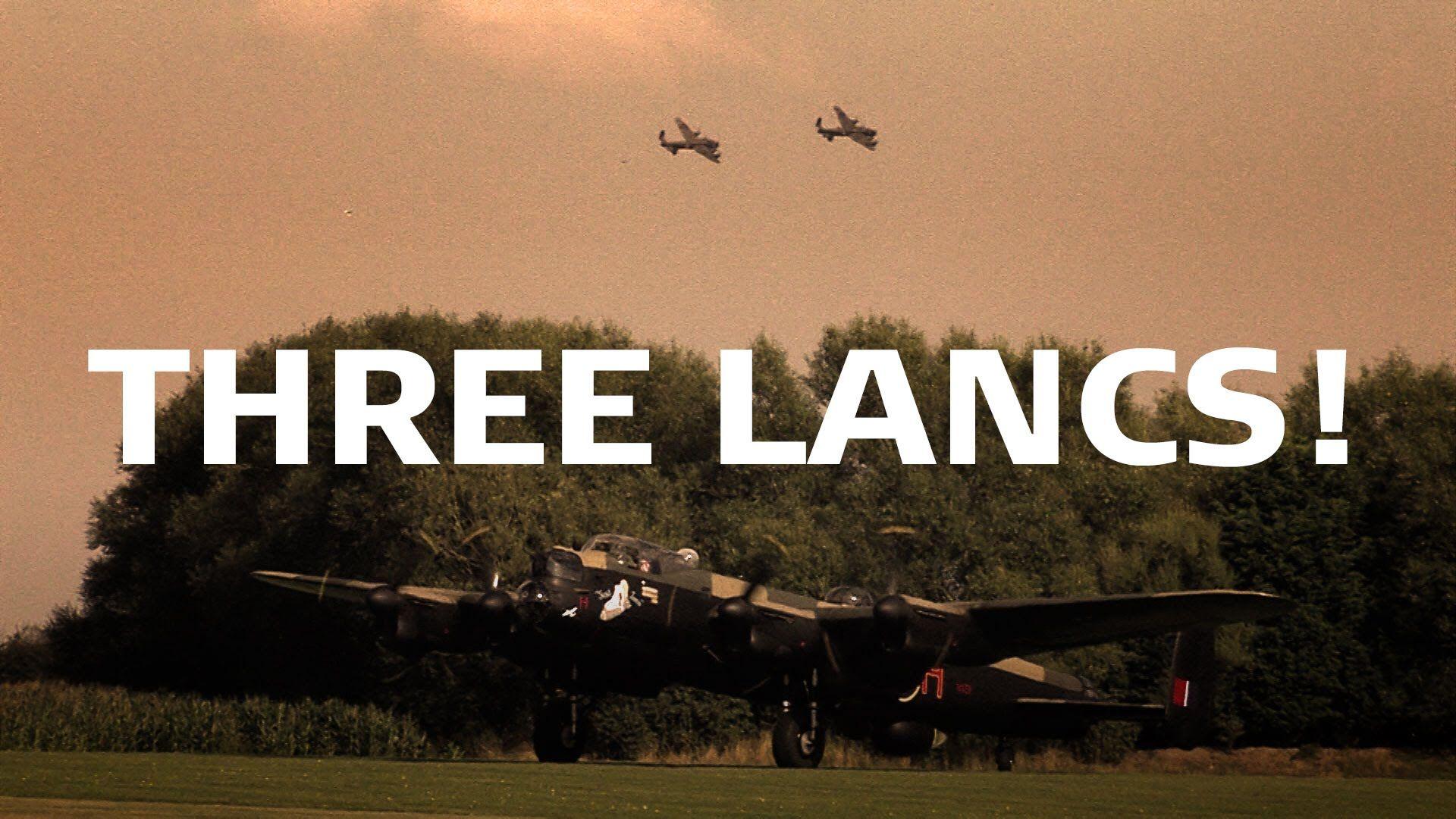 Three Lancasters Meet at East Kirkby 2014 Lancaster