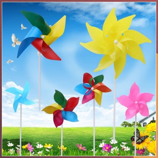 Pinwheel Wind Spinner Garden Yard Art Decoration for Kids EAPTS Santa Claus Windmill