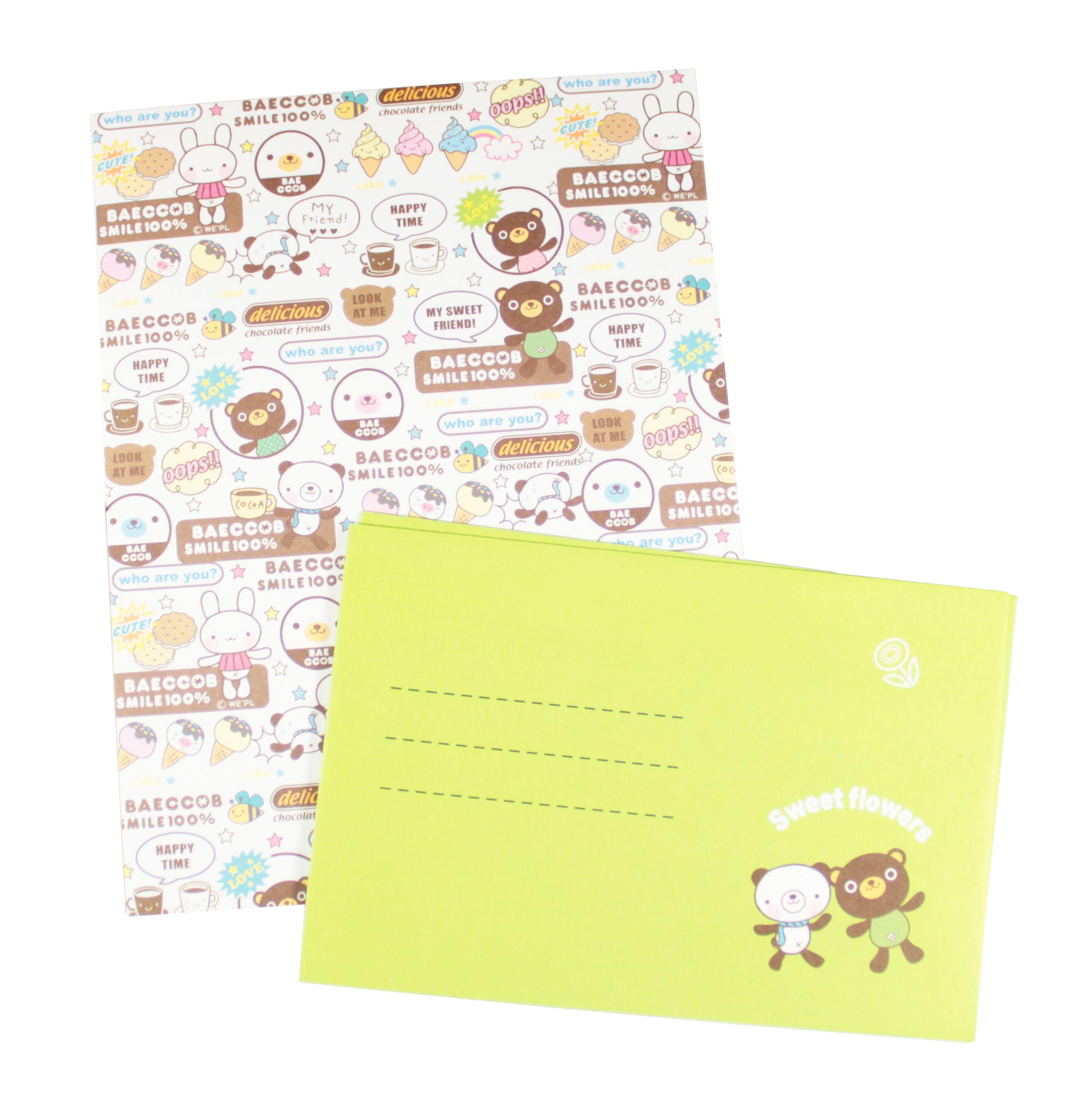 Lettres à papier kawaii et ses enveloppes assortis : http://www.belledecoeur.com/papeterie/lettre-pochette/papier-a-lettre.html