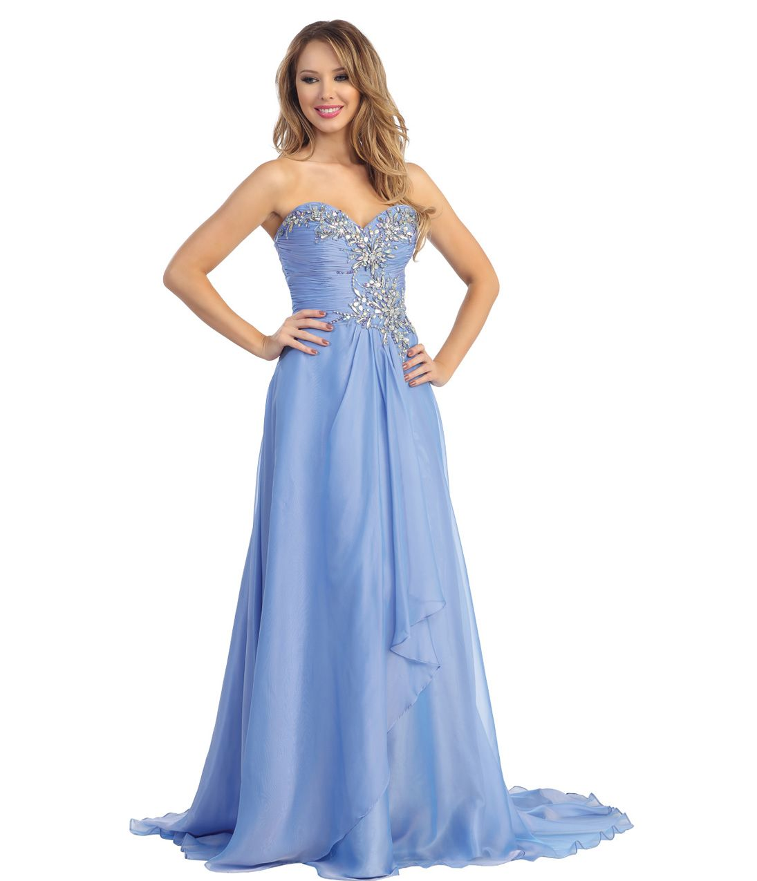 Unique vintage chiffon beading strapless gown and vintage prom
