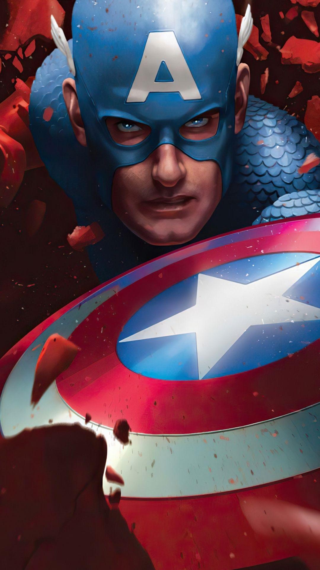 1080x1920 Avengers Captain America Wallpaper In 2021 Captain America Wallpaper Captain America Captain America Art