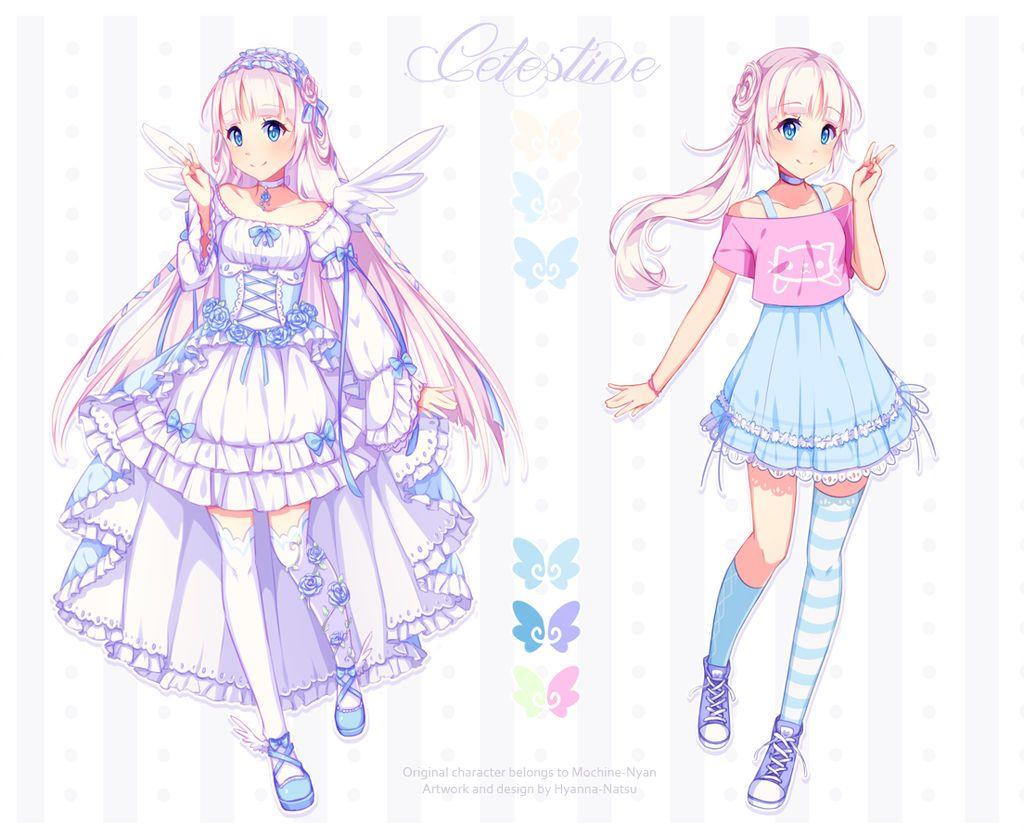 Commission Celestine By Hyanna Natsu Anime Character Design Anime Art Girl Character Design