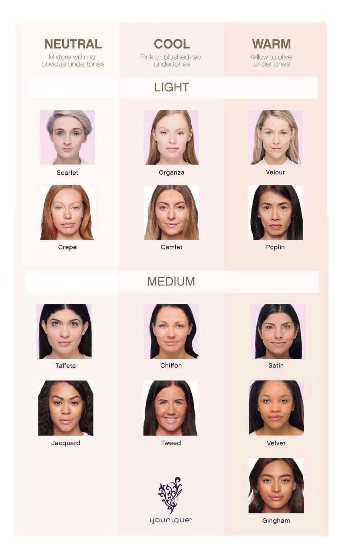 Younique Foundation Neutral Cool Amp Warm Skin Tones