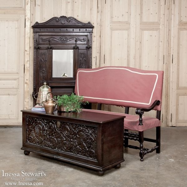Antique Furniture Consoles And Hall Trees Italian Renaissance Tree 1880