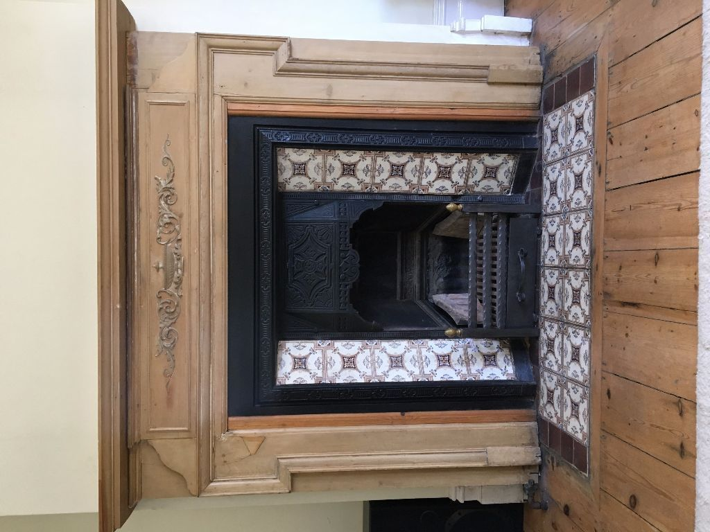 victorian cast iron fireplace insert without tiles brighton