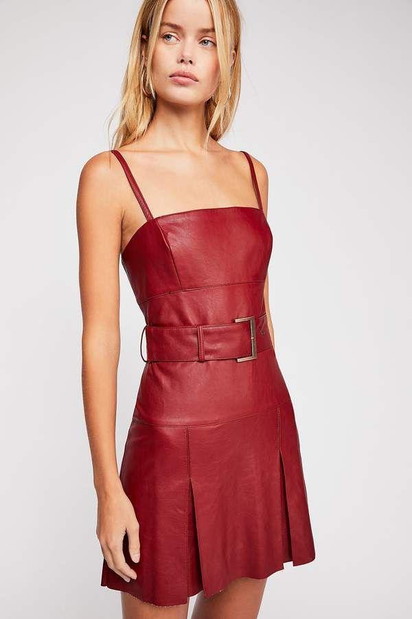 7f31ef364b Sweet Talk Vegan Leather Mini Dress em 2019