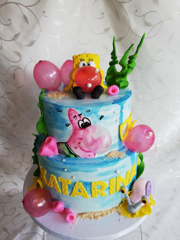 Sponge Bob And Patrick By Casper Cake Spongebob Squarepants Cake Spongebob Cake