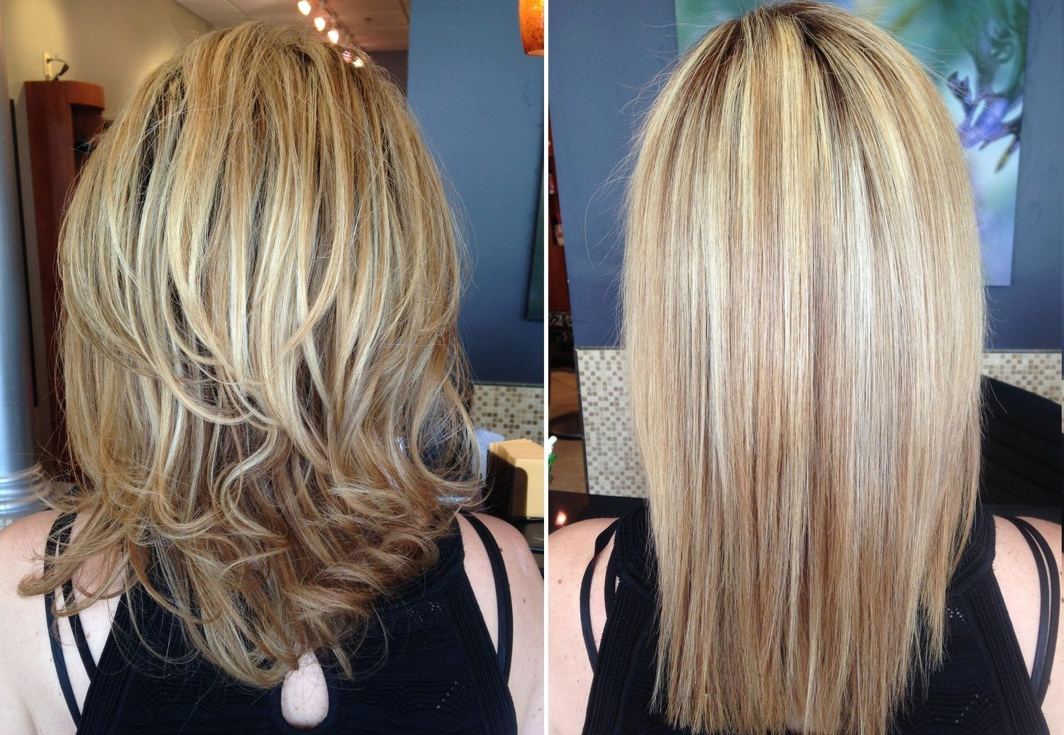 Before After Keratin Our Work Only At Salon Belladonna