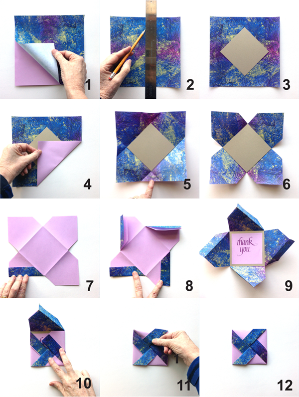 Candy wooding shows how to make a pretty and pretty easy for How to make folded christmas cards