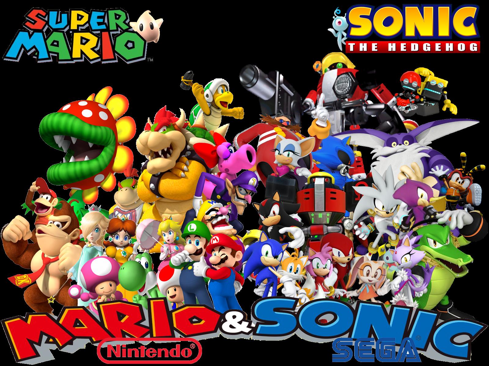 Super Mario And Sonic The Hedgehog Www Tollebild Com