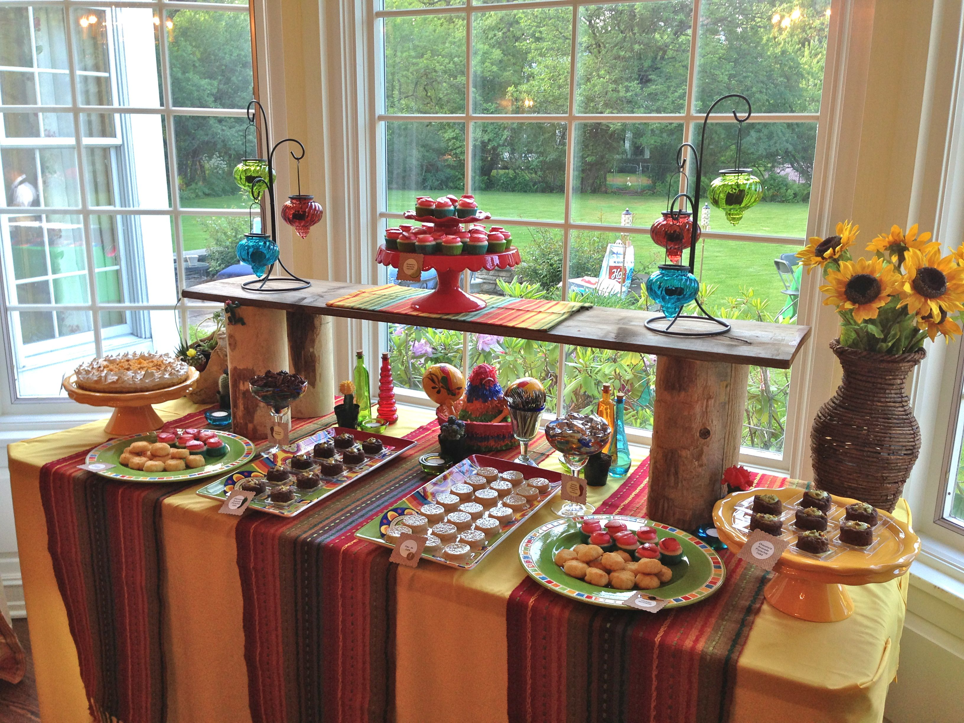 Mexican Fiesta Dessert Table, Mexican Fiesta Sweets Table
