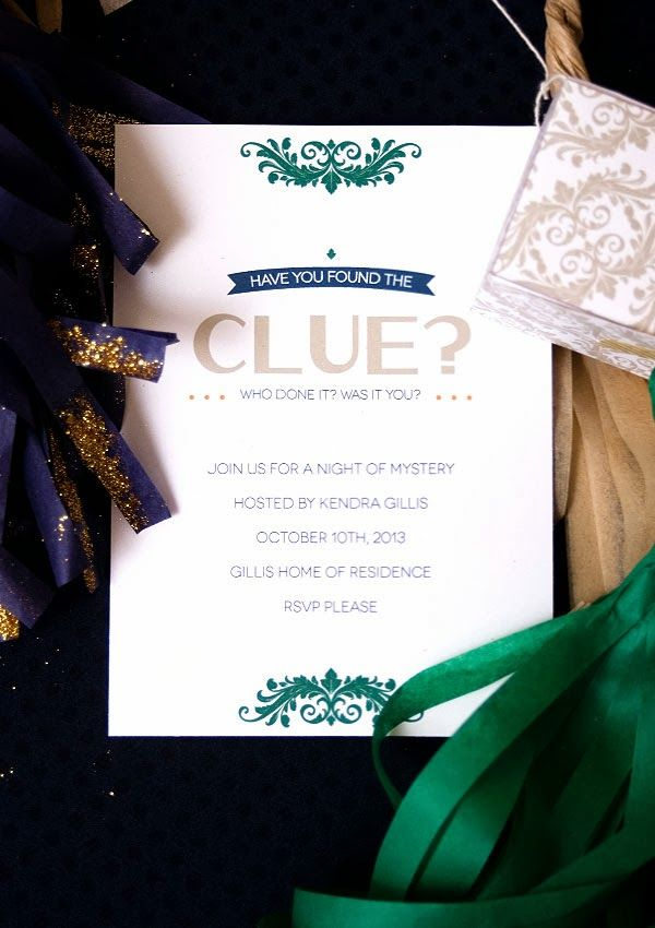 Clue Mystery Party and FREE Invitation Printable – Clue Party Invitations