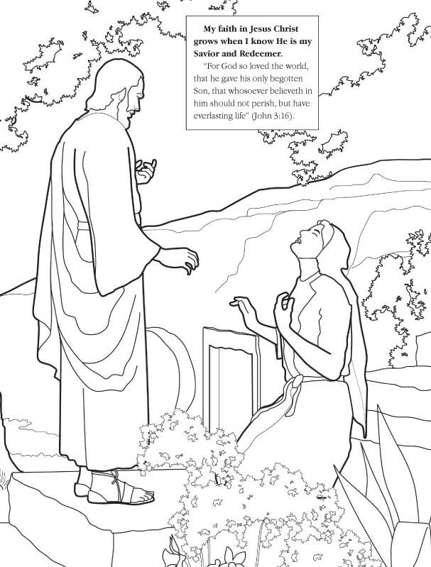 Jesus Bringing Lazarus Coloring Page Pages Easter Story Coloring