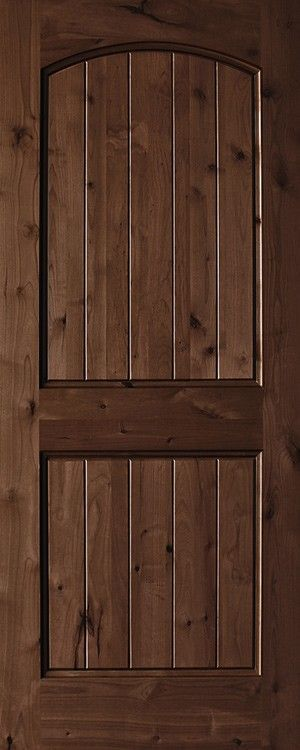 Knotty Alder 2 Panel Plank Top Rail Arch 1 3 4 Exterior Doors Wood Doors Interior Stained Doors Wooden Doors