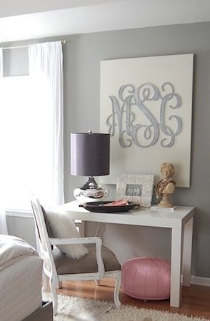 Monogram Wall Decor Made With A Large Wooden From Initial Outers Initialouters Samanthatotty Or Facebook Iobysamantha