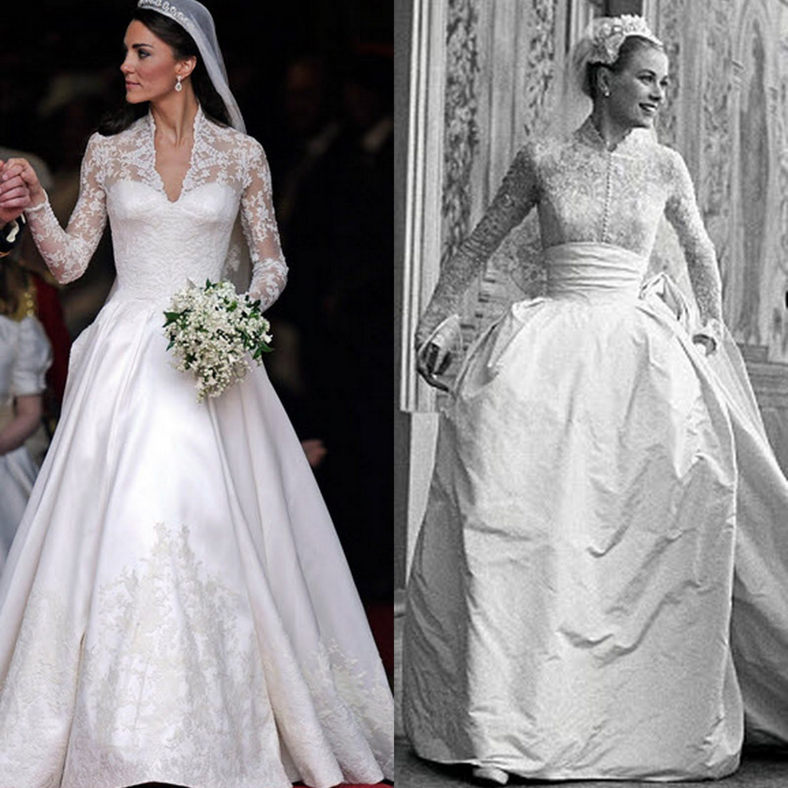 Was kate middleton 39 s dress inspired by grace kelly for Princess catherine wedding dress