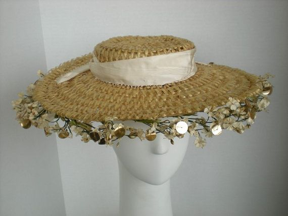 MUST HAVE!! It's like a shepherdess' hat from Far From The Madding Crowd! Laddie Northridge Straw Hat with Ivory Moire by BlueBridgeStudio, $98.00