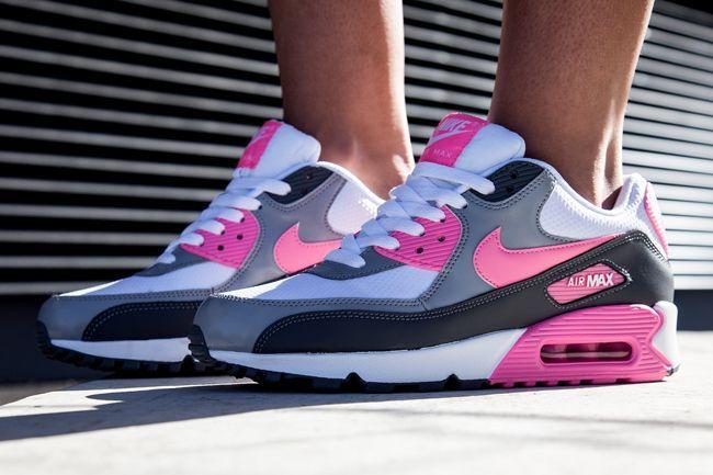 Nike Wmns Air Max 90 Pink Glow Eu Kicks Sneaker Magazine Nike Shoes Women Nike Air Max 90 White Nike Free Shoes
