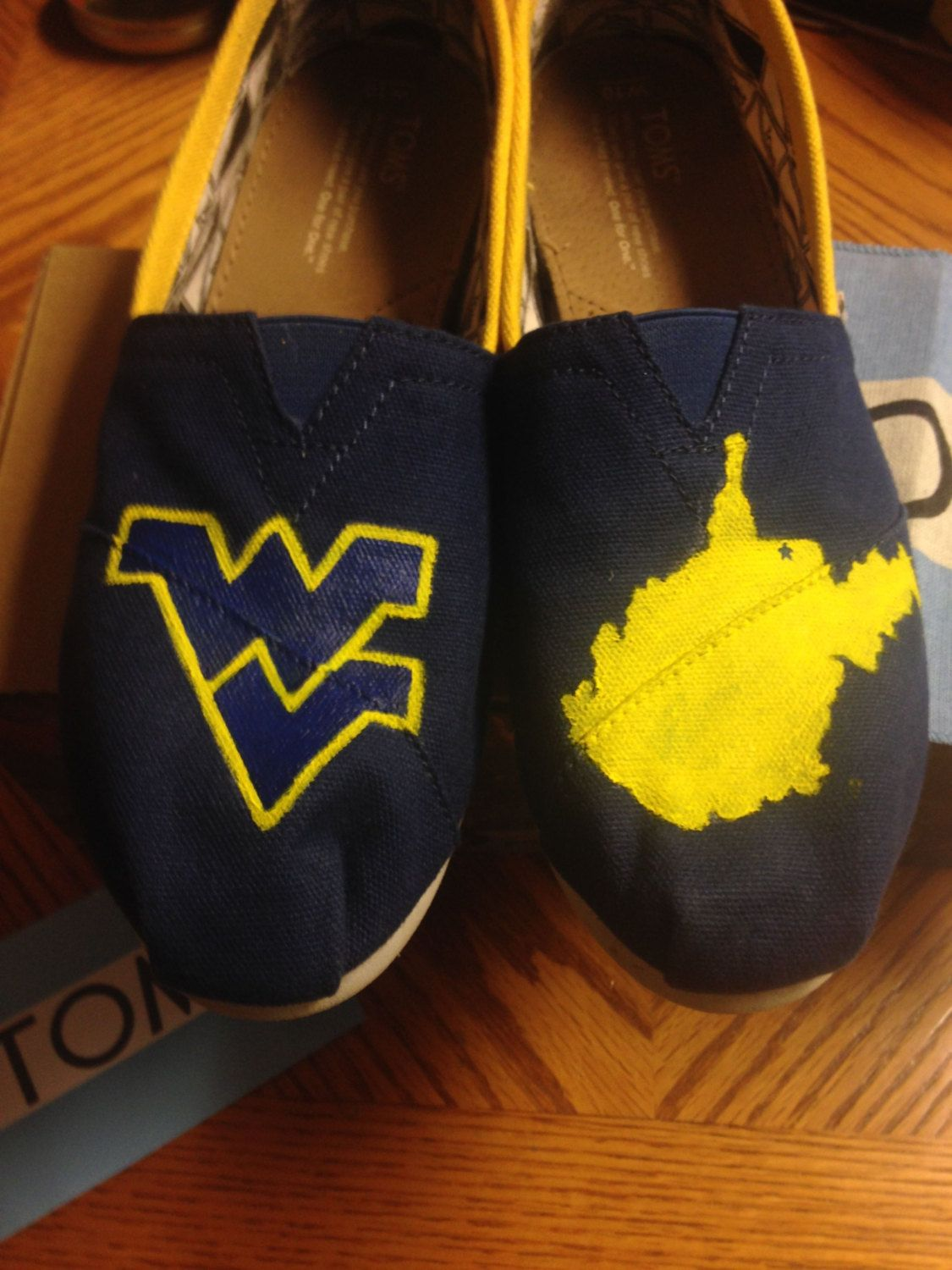 c3ce38ea73f Wvu hand painted toms shoes colorreimagined on etsy jpg 1125x1500 Wvu toms  shoes