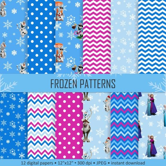 Buy 2 Get 1 Free! Digital Frozen Patterns, winter papers ...