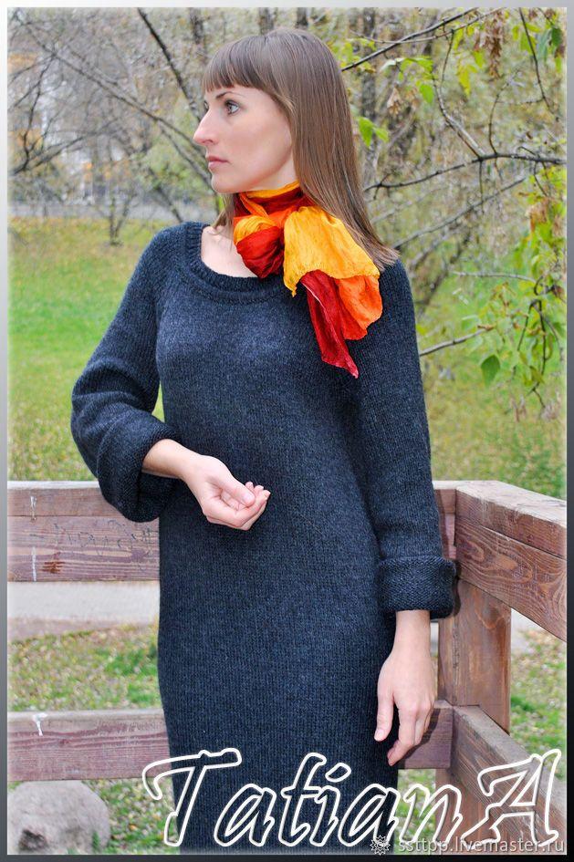 купить стильное вязаное платье в пол осенние правила в интернет