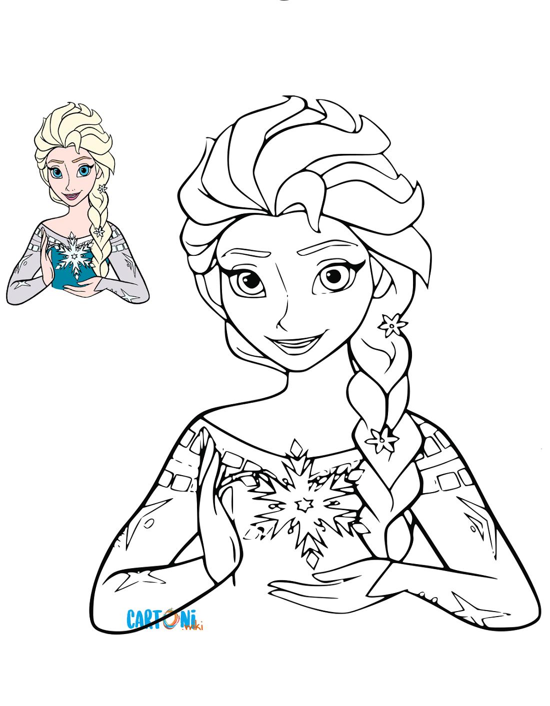 Cartoni Animati Stampa Le Immagini Di Elsa E Di Tutti I