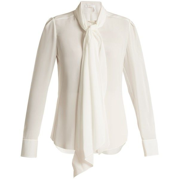 599b86f23bfee Chloé Neck-tie silk blouse ( 1