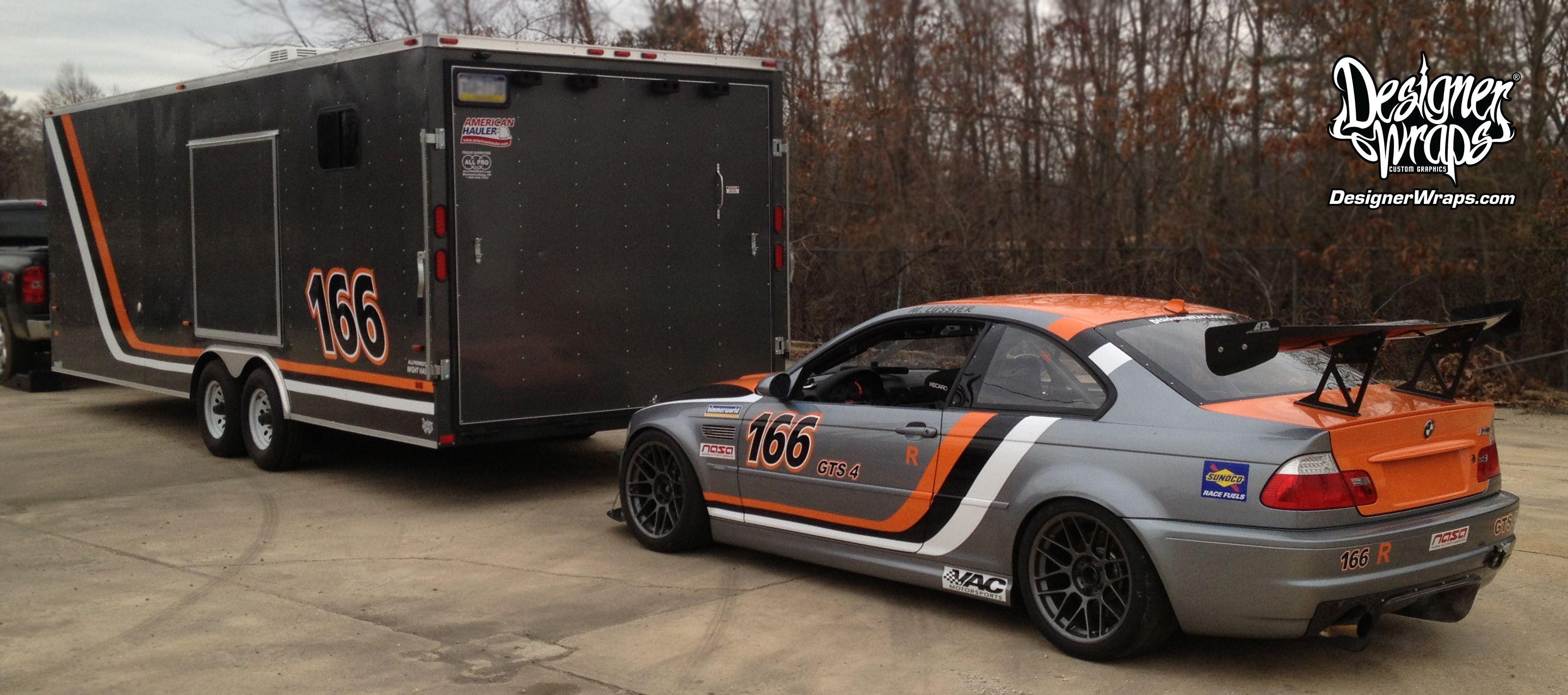 BMW & Trailer Racing Graphics | BMW M3 Race Car & Trailer ...