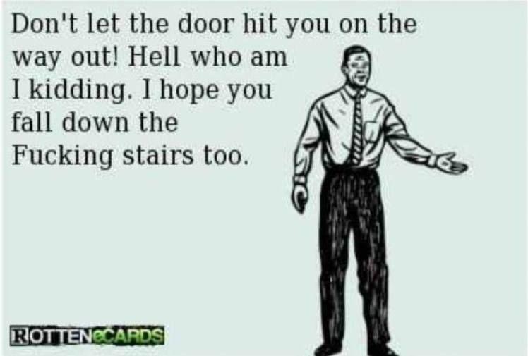 Don't let the door