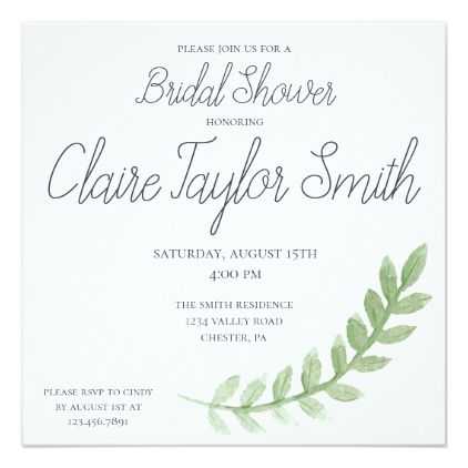 Simple bridal shower invite bridal showers rsvp and bridal showers filmwisefo