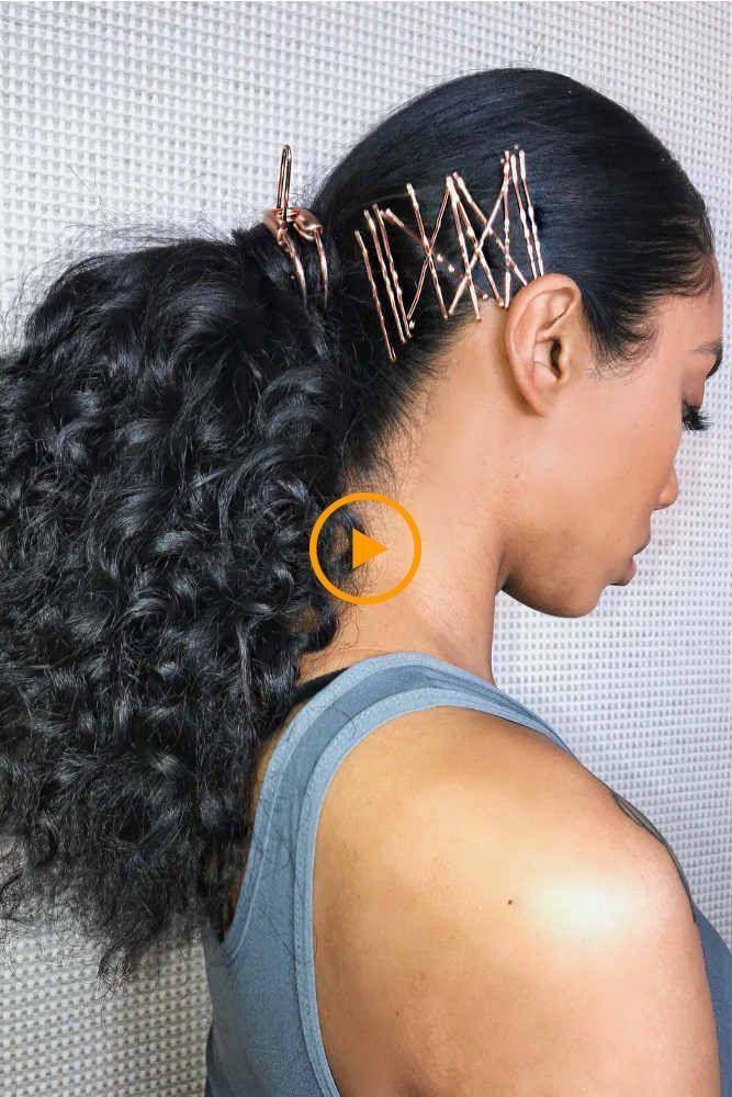 Peinados de graduación de peinado de cola de caballo afro para un magnífico lo…