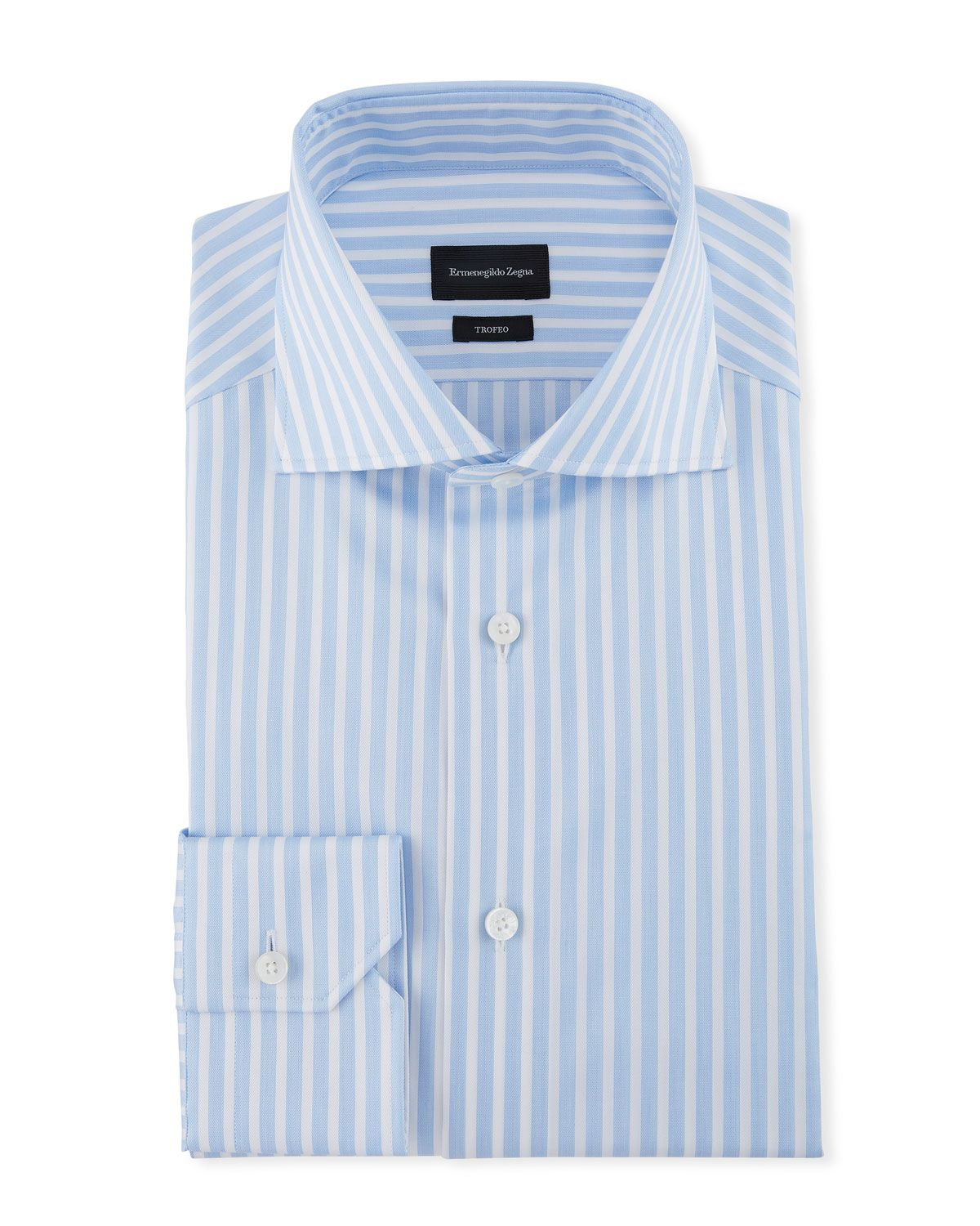 a1bc123b ERMENEGILDO ZEGNA MEN'S WIDE STRIPE DRESS SHIRT. #ermenegildozegna ...