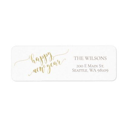 happy new year address labels white gold white gifts elegant diy gift ideas