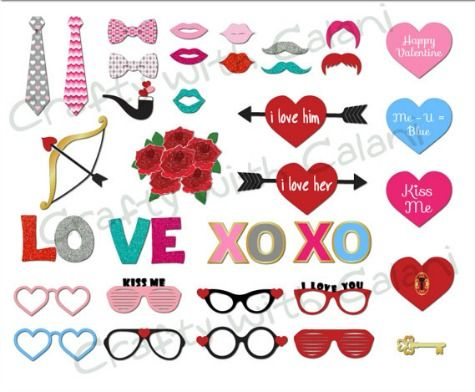 Fesselnd The Best Valentineu0027s Day Printable Photo Booth Prop Sets   Photo Booth Props