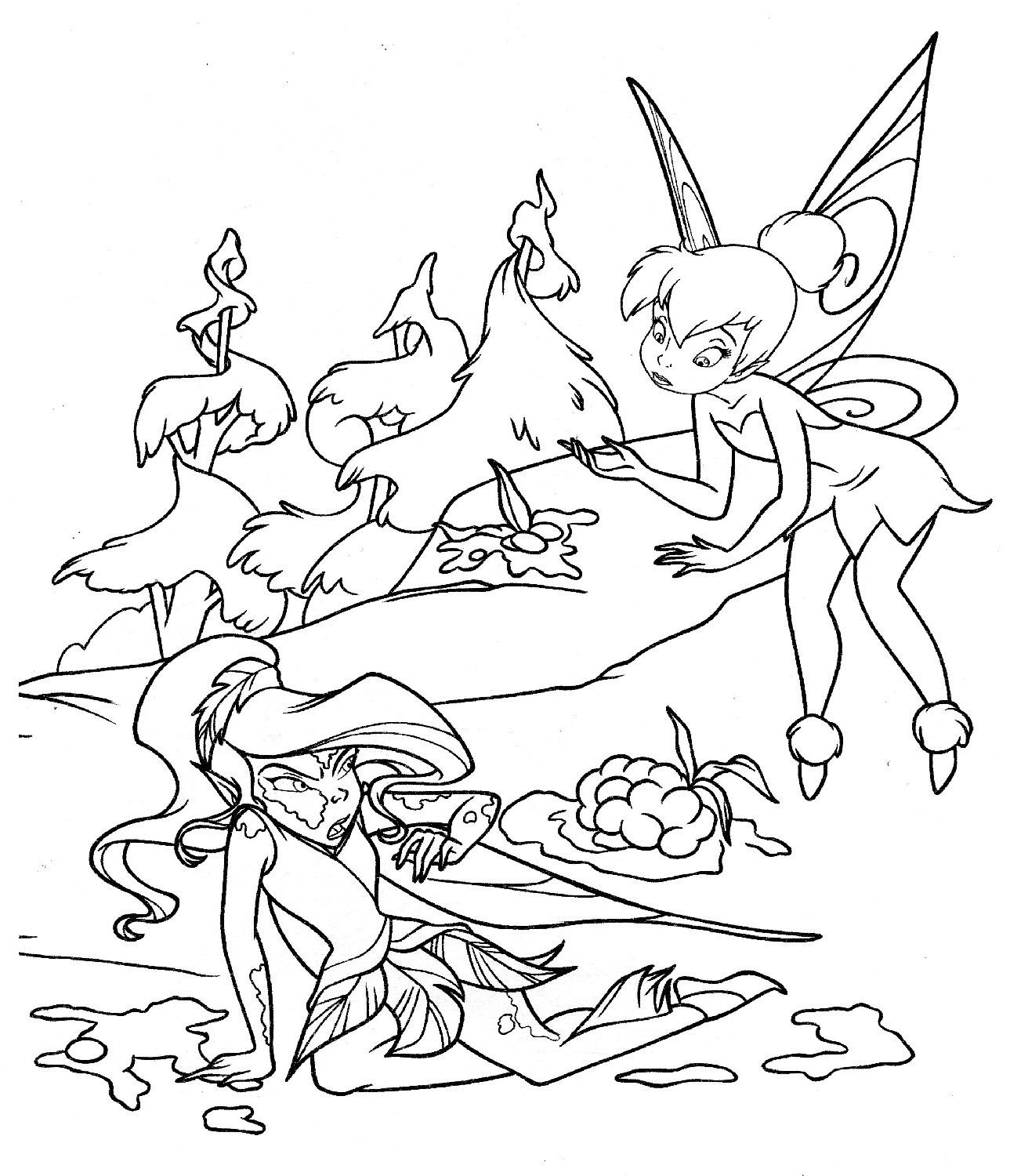 Tinker Bell Coloring Book Fairy PagesFree