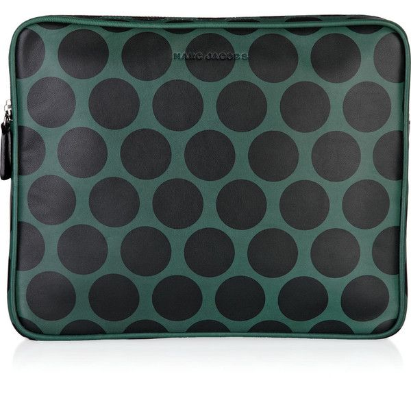 Marc Jacobs Polka-dot leather iPad case ($275) ❤ liked on Polyvore