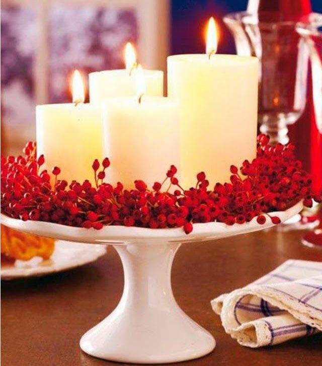 29 ideias para decorar a sua mesa de natal com velas - Ideas para decorar velas ...