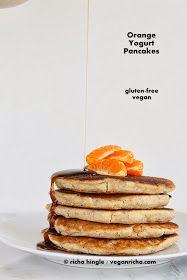 Vegan Richa Gluten-free Orange Yogurt Pancakes and Multigrain Pancake Mix
