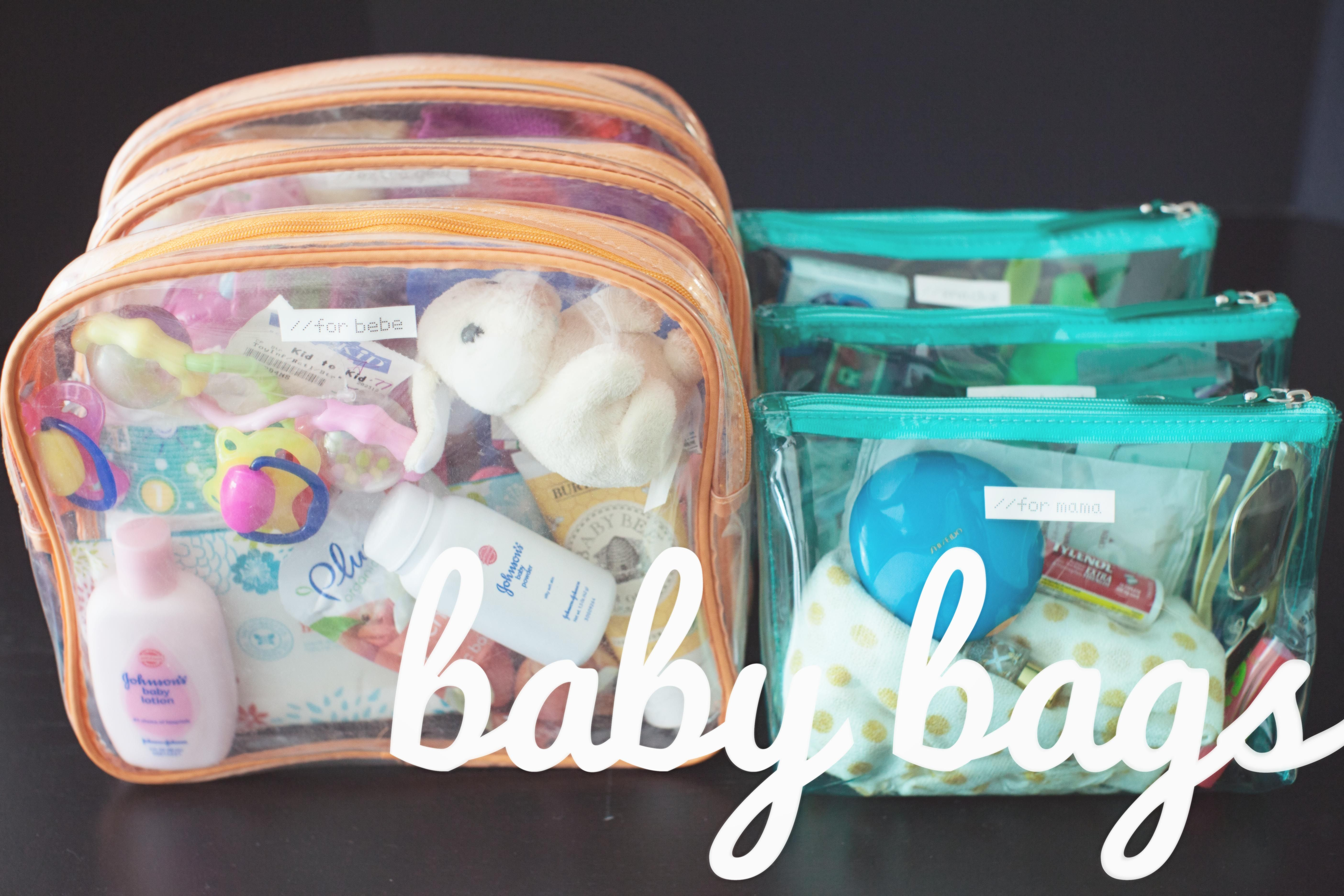Baby Travel Organization Purchase multiple plastic zip
