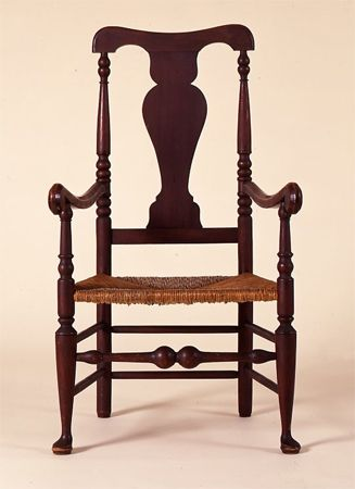 American Period Queen Anne Furniture Queen Anne Rush Seat Armchair New York Circa 1760 Colonial Furniture Queen Anne Furniture Furniture