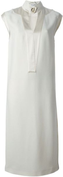 Givenchy Band Collar Shift Dress in Beige (nude & neutrals)