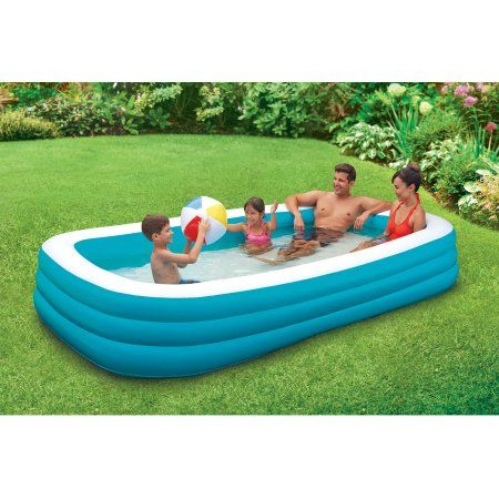Play Day Rectangular Inflatable Family Pool 120 X 72 X 22 Walmart Com In 2021 Family Lounge Pool Family Inflatable Pool Family Pool