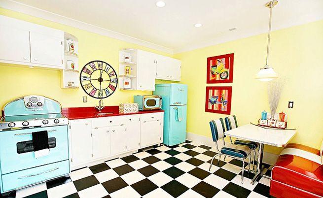 Cocina estilo americano años 50 | Cocina años 50 | Pinterest